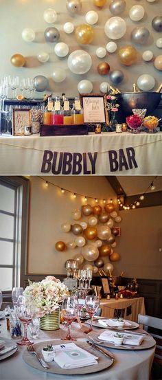 Ideas For Vintage Bridal Shower Brunch Decor Bubbly Bar, Mimosa Bar, Bridal Shower Decorations, Wedding Decorations, Diy Wedding, Wedding Day, Dream Wedding, Wedding Things, Budget Wedding