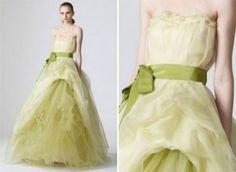 Vestido verde de Vera Wang