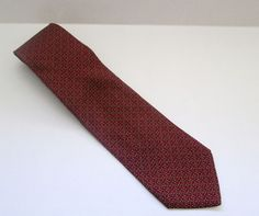 Brooks Brothers Luxury Silk Neck Tie Red Navy Gold Pattern Made in USA #BrooksBrothers #NeckTie