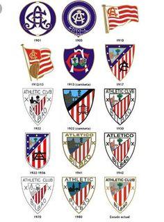 Athletic Club Bilbao - history of club crests World Football, Football Soccer, Premier League, Badges, San Mamés, Gyms Near Me, Football Design, Athletic Clubs, Great Logos