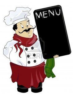 Chef Menu S Waiter Italian Dinner Night