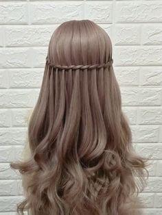 Bun Hairstyles For Long Hair, Braids For Long Hair, Pretty Hairstyles, Hairstyles Videos, Anime Hairstyles, School Hairstyles, Hair Updo, Short Hair, Model Hairstyles