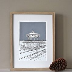 brighton bandstand hand coloured print by adam regester art and illustration | notonthehighstreet.com