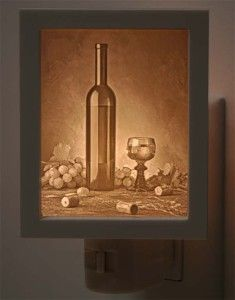 What better way to celebrate your love of wine than to have one of these in your kitchen? -Candlestone Classics Wine Series – Night Light Lithophane