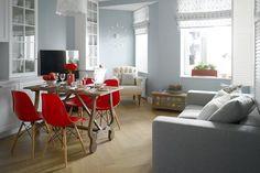 Din living au făcut două camere, în apartamentul de 75 mp