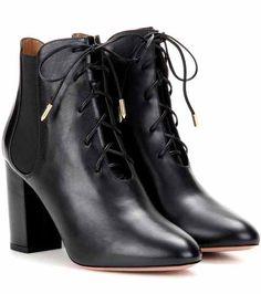 Victoria Bootie 85 leather ankle boots | Aquazzura