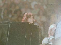 Ginger alden at a concert of Elvis.