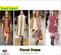 Floral Dress  #FashionTrend for Fall Winter 2014 #Prints #Trends #FW2014 #Fall2014