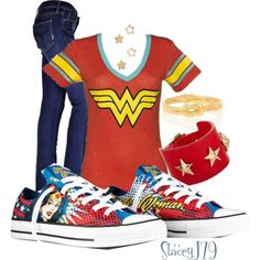 A fashion look from May 2013 featuring Mother jeans, Givenchy bracelets and Alex Monroe rings. Browse and shop related looks. Wonder Woman Birthday, Wonder Woman Party, Alex Monroe, Wonder Woman Outfit, Wonder Woman Shoes, Geek Fashion, Womens Fashion, Mode Geek, Hallowen Costume