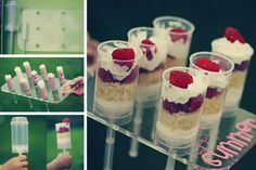 """""""Cake Shooters"""" it's like cake push pops, plus carrying tray. I like the idea--maybe I could DIY a cup caddy for less messy cake distro at parties."""