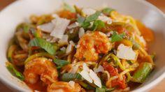 Primavera Zoodles with Shrimp  - Delish.com