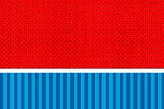 Fundo azul e vermelho