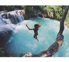 bungee jumping in the water