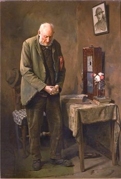 Spencelayh, Charles (b,1865 )- Two Minutes' Silence