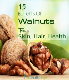 Walnuts are delicious nuts & considered to be the king of the nuts. Enlisted are the walnut benefits for health, skin & hair along with the nutritional value. Walnut Benefits, Health Benefits Of Walnuts, Benefits Of Akhrot, Health And Nutrition, Health And Wellness, Health Tips, Health Care, Healthy Fats, Healthy Recipes