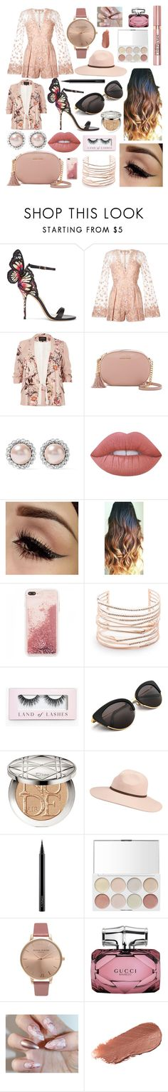 """""""Summer"""" by augusteee ❤ liked on Polyvore featuring Sophia Webster, Zuhair Murad, River Island, MICHAEL Michael Kors, Miu Miu, Lime Crime, Alexis Bittar, Boohoo, L'Oréal Paris and Christian Dior"""