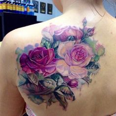 Learn more about >> Again Shoulder Sensible Aquarelle Roses tattoo | greatest tattoo concepts