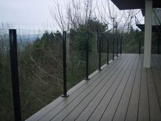 Rail Pro Glass Railing - Custom Glass Railings. A must for decks to maximize the view.