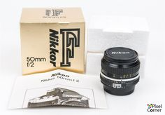 Nikon 50mm f/2 Ai Nikkor Standard Prime Lens Boxed Mint! 3803949