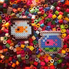 Mini perler bead fishbowls