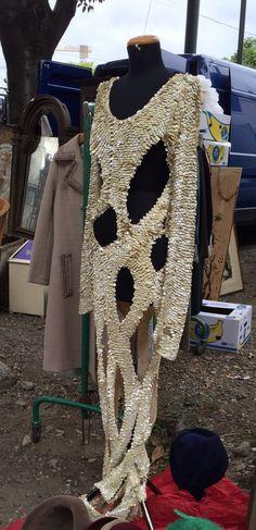 Paco Rabanne style, abito da sera, abito da sposa 1970, vintage, paillettes by inlove4vintage on Etsy