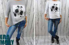 Swietna Oversizowa Bluza Z Crazy Nadrukiem Uszy Hit Sezonu Wygodna I Stylowa Dostepne Kolory Szarosc I Biel Http Allegro Skinny Skinny Jeans Fashion