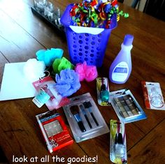 Dollar Tree Saves The Day- Creating a Cool Girls Spa Birthday Basket - Trend Dollar Tree Gifts 2019 Teen Spa Party, Girl Spa Party, Birthday Presents For Girls, Gifts For Girls, Girls Presents, Spa Birthday, Birthday Gifts, Birthday Parties, Birthday Tree