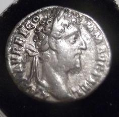 RARE ROMAN EMPEROR COMMODUS SILVER DENARIUS COIN 2ND CENTURY