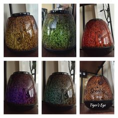 The many colours of Tiger's Eye Scentsy warmer