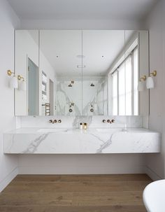 modern bathroom countertops a floating marble vanity top gives a feeling of luxu… – Marble Bathroom Dreams Bad Inspiration, Bathroom Inspiration, Interior Design Inspiration, Design Ideas, Furniture Inspiration, Interior Ideas, Marble Vanity Tops, White Vanity, Mirror Cabinets