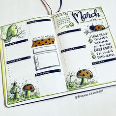 Is the weekend really over already? Here's to a new week ahead! March Bullet Journal, Bullet Journal Notebook, Bullet Journal Spread, Bullet Journal Layout, Bullet Journal Inspiration, Bujo, Buch Design, Planners, Creative Journal