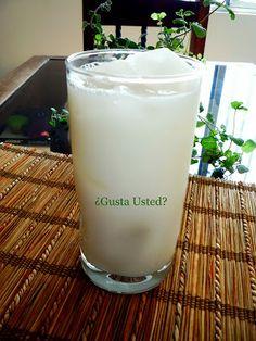 ¿Gusta Usted? Auténtica comida casera mexicana: AGUA DE HORCHATA DE ARROZ RECETA