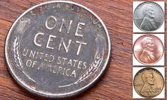 Wheat pennies were briefly made of steel in but a few mostly copper coins still managed to get minted that are now worth up … Old Pennies Worth Money, Valuable Pennies, Rare Pennies, Rare Coins Worth Money, Valuable Coins, Wheat Penny Value, Old Coins Value, Penny Values, Saving Coins