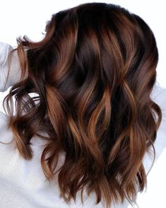 50 Trendy Brown Hair Colors and Brunette Hairstyles for 2020 – Hair Adviser – dark hair styles Brown Hair Balayage, Balayage Highlights, Bronde Hair, Fall Balayage, Chocolate Brown Hair With Highlights, Cinnamon Brown Hair Color, Brunette Hair With Highlights, Choclate Brown Hair, Dark Hair With Caramel Highlights
