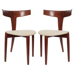 A Pair of 1950's Danish Modernist Chairs signed MM, Denmark, 1950s