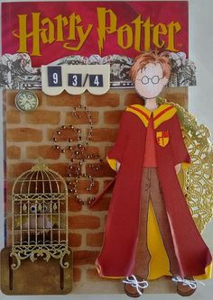 Harry Potter by Nellie Knupp. Harry Potter Cards, Harry Potter 9, Prima Paper Dolls, Prima Doll Stamps, Arts And Crafts, Paper Crafts, Dress Up Dolls, Hello Dolly, Art Dolls