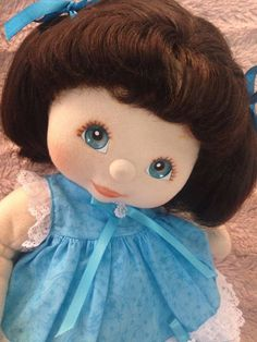Simply Gorgeous US Brunette Puppy/Pony Tail My Child Doll - Dressed!
