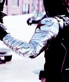 Bucky's metal arm in detail
