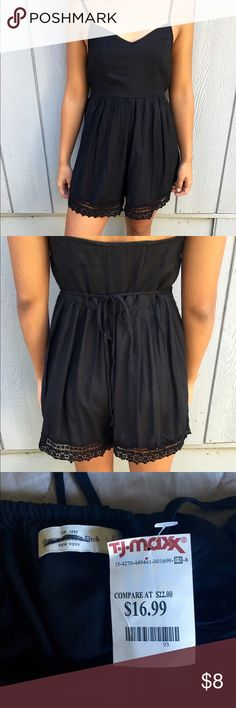 Black Romper Black Abercrombie and Fitch Romper. NWT. Price firm Abercrombie & Fitch Other