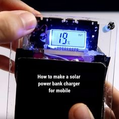 Solar Charger, Phone Charger, Solar Projects, Diy Projects, Diy Solar, Renewable Energy, Solar Power, Make It Yourself, How To Make