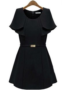 Shop Black Cape Ruffles Sleeve A-line Short Dress online. SheIn offers Black Cape Ruffles Sleeve A-line Short Dress & more to fit your fashionable needs.