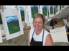 LINDA COTE Three Sisters Art Print, Linocut Reduction - YouTube