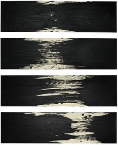 Fabienne Verdier - Les fractales C - Paysage dans l'énergie d'un trait - Ink, pigments and varnish on canvas, 2012 (170 × 113 cm)