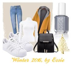 """Winter 2016"" by jessalessandra on Polyvore featuring WithChic, adidas, Michael Kors and Essie"