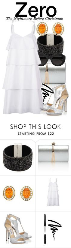 """""""Zero - The Nightmare Before Christmas"""" by nerd-ville ❤ liked on Polyvore featuring Design Lab, Carla Zampatti, Kaelen, Jimmy Choo and Bobbi Brown Cosmetics"""