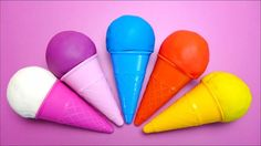 Baby ToY Play Doh Ice Cream Cones with Toys English Name Color Preschool Learning for Kids http://youtu.be/ZpLpWHdbWlo