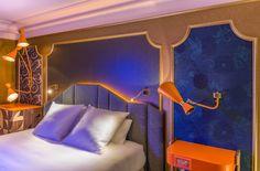 Idol Hotel #Paris Chambre Moon Blue #hotelparis  #hotelgrandsboulevards  #musichotel