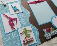 LOVE MY GYMNAST 12x12 Premade Scrapbook Pages GyMNaSTiCS GiRL on Etsy, $16.00