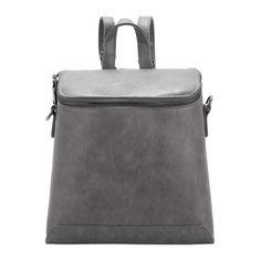 Grey Zippers PU Backpack ($20) ❤ liked on Polyvore featuring bags, backpacks, gray bag, zipper bag, polyurethane bags, grey bag и rucksack bag