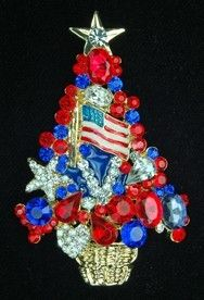Another Patriotic Christmas Tree pin